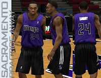 NBA 2K13 Sacramento Kings Practice Away Jersey