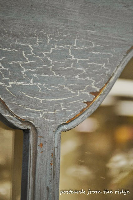 crackle paint over metal
