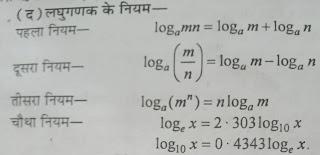 लघुगणक क्या है?  लघुगणक की परिभाषा | लघुगणक के प्रकार , लघुगणक के भाग , पूर्णांश (Characteristic),  अपूर्णांश (Mantissa)। लघुगणक के नियम