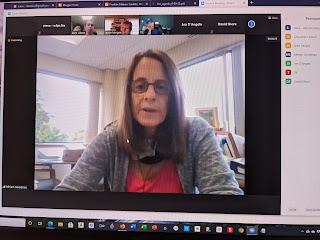 Business Administrator Miriam Goodman updates the Subcommittee