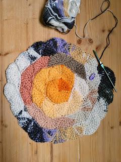 tunisian crochet short rows