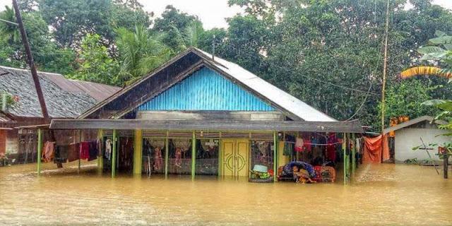 Sungai Balangan Kalsel Meluap, Rendam 3.571 Rumah
