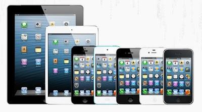 Aparelhos que roda iOS - imagem retirada do site evasi0n.com