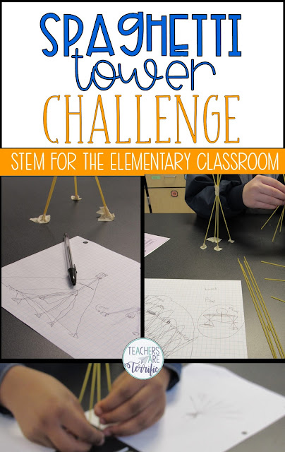 Such a simple idea but this STEM Challenge is packed with difficulty! This post will give you many versions of the spaghetti challenge and resources to use! #STEM #elementary