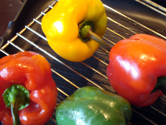 baking peppers in the oven