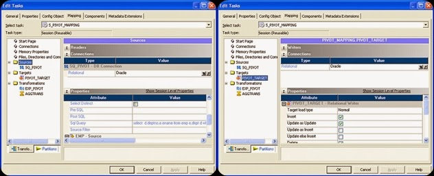 Informatica Session: Sources and Targets Properties and