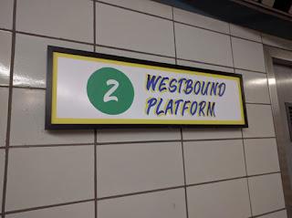 Westbound Platform.