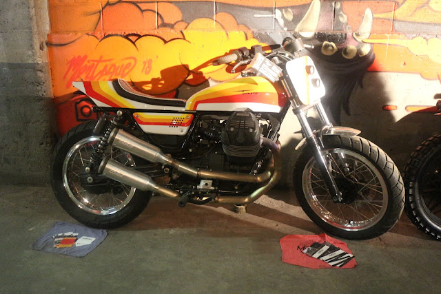 custom motorcycle cafe racer street tracker at the one moto show number 9