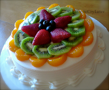 Eat Now Cry Later Fruit Filled Sponge Cake