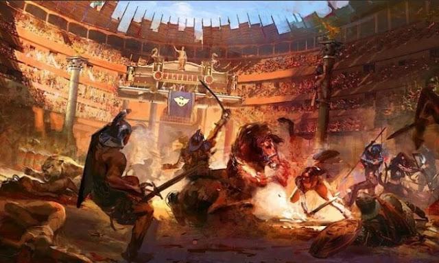 As batalhas de gladiadores