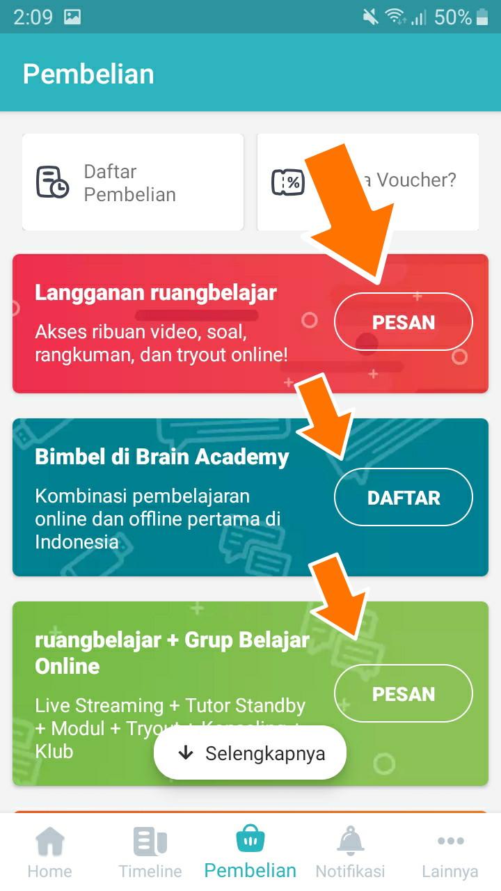 Cara Memasukkan Kode Diskon Di Ruang Guru Uang Online