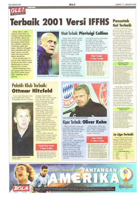 TERBAIK 2001 VERSI IFFHS