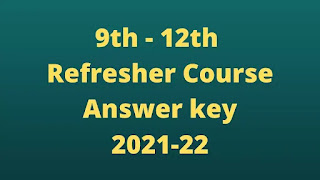 Refresher Course Answer key