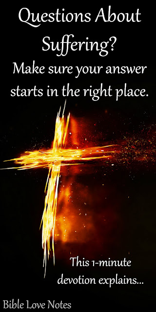 There is a place where all discussions about suffering must begin. Do you know where?
