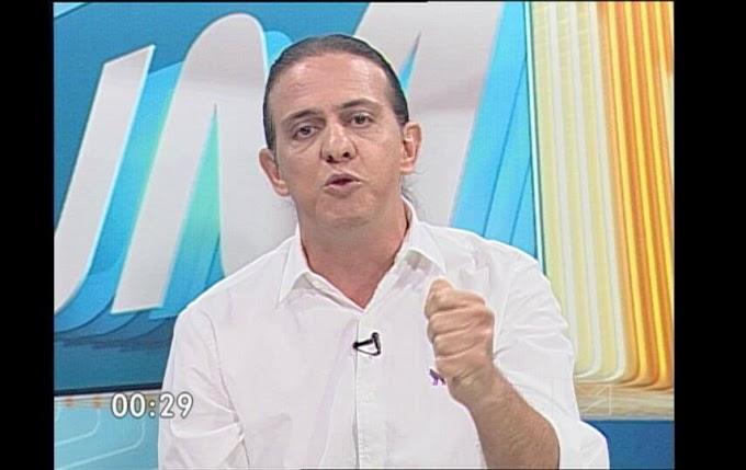 """Firme e convincente - Em entrevista na TV Mirante, Fábio Gentil desafia Léo Coutinho para o debate: """"proponho o debate no dia e na hora que você quiser""""."""