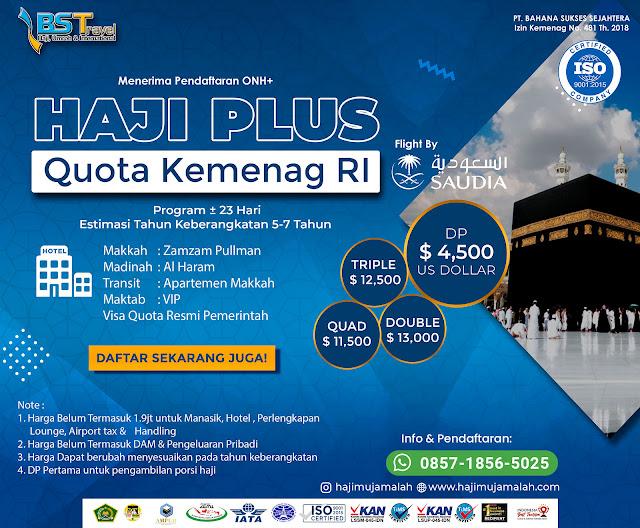 Biaya Haji ONH Plus Kuota Resmi Kemenag