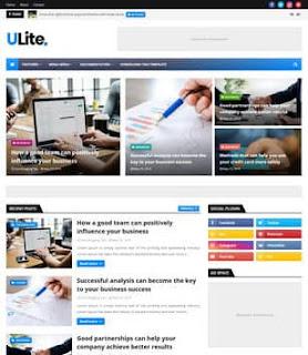 UltraLite Blogger Template|SEO ready template