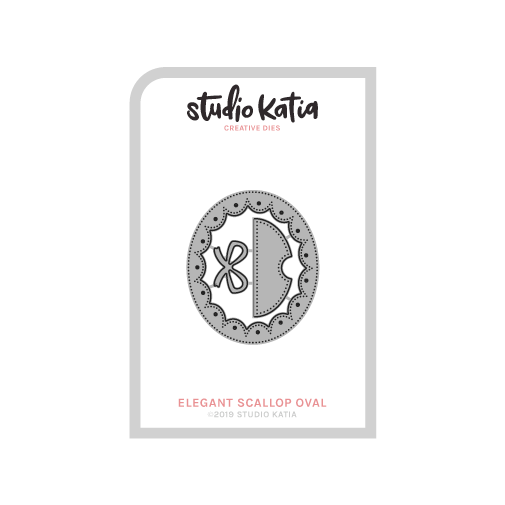 Studio Katia dies - ELEGANT SCALOPPED OVAL