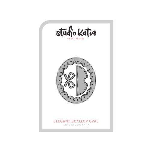 Studio Katia dies - ELEGANT SCALOPPED OVAL