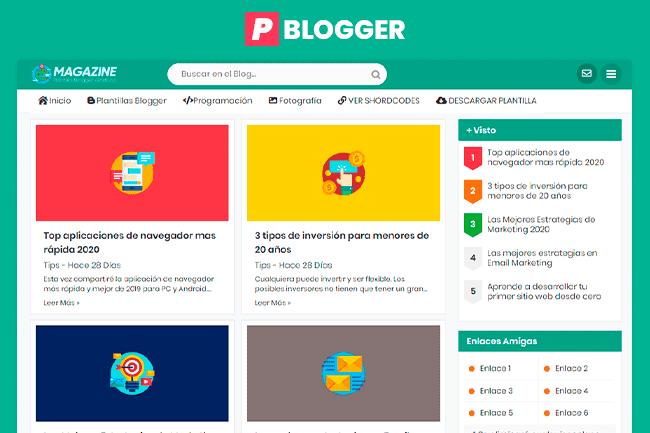 Magazine Plantilla Blogger  - Responsive Blogger Template