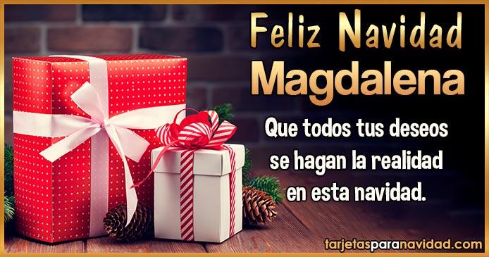 Feliz Navidad Magdalena