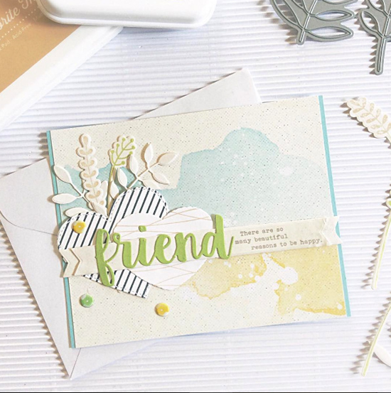 Friends and Bold Greenery Die-namics - Janet Perafan-Babar #mftstamps