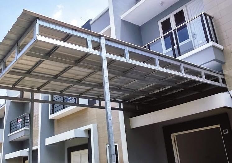 model kanopi atap baja ringan 48 desain modern pilihan tepat untuk rumah minimalis