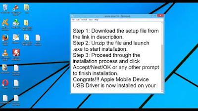 Apple Mobile Device USB Driver for Windows 8 1 64 bit