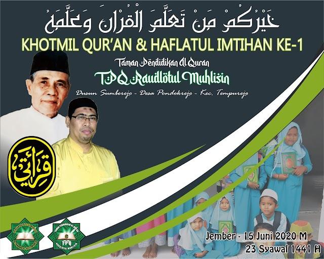 Program Tahfidz Pasca TPQ (PTPT) Yayasan Raudlotul Muhlisin