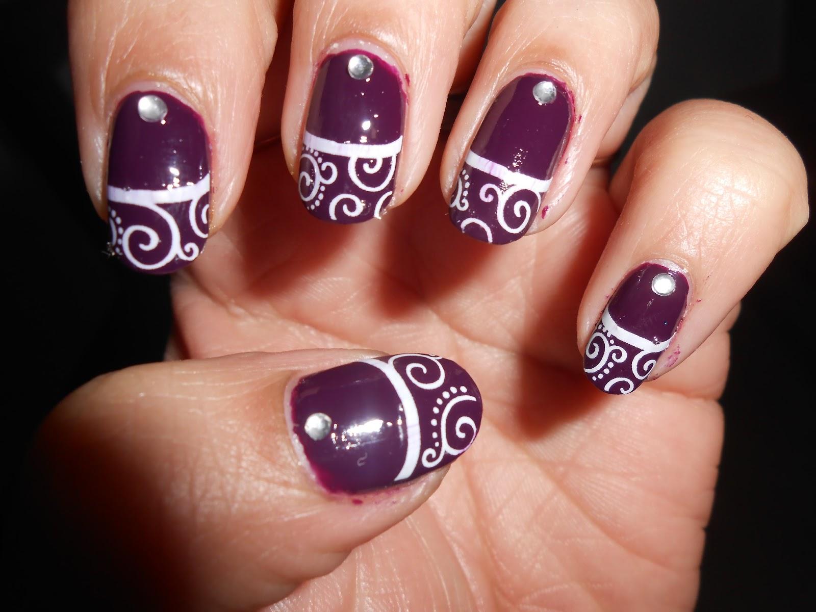 Cute Nails Beautiful Swirl Nails 2 Designs