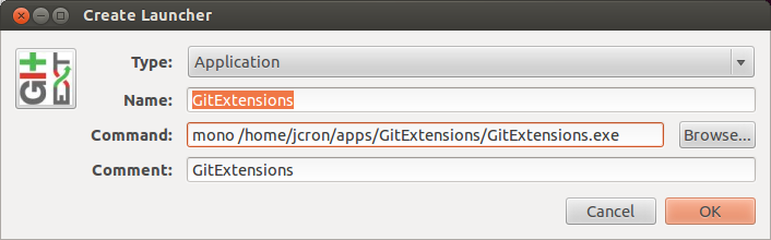 Cron Job: Git Extensions 240 on Ubuntu 12 04