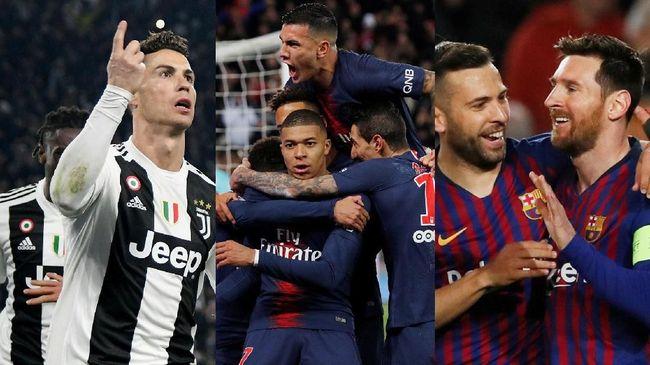 Berikut Klub Besar Juventus, PSG dan Barcelona Membuat Laga Membosankan 2019