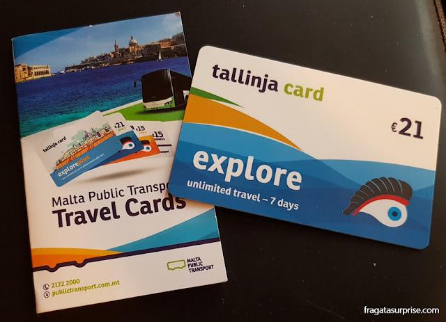 Tallinja Card, cartão do transporte público em Malta