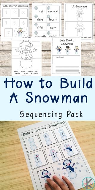 new snowman sequencing worksheets. Black Bedroom Furniture Sets. Home Design Ideas