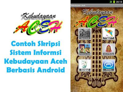 Skrpisi Sistem Informasi Kebudayaan Aceh Berbasis Android