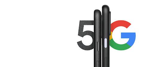 Foto des Pixel 4a von der Seite mit 5G Schriftzug