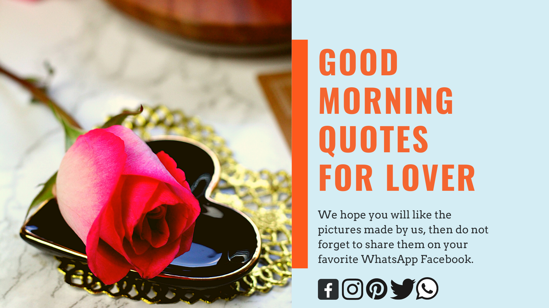 Top 30+ Good Morning Love Quotes and Text Messages - Quotesmotiv.com
