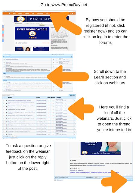 How the #PromoDay2016 Webinars Work