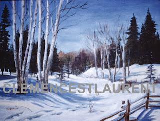 L'hiver dans le nord de l'Ontario, par Clémence St-Laurent