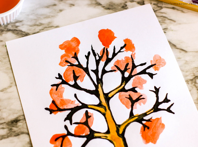 tree craft for kids with template