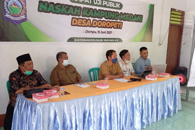 Pemprov NTB kembangkan Kampung Madani Desa Doropeti Dompu