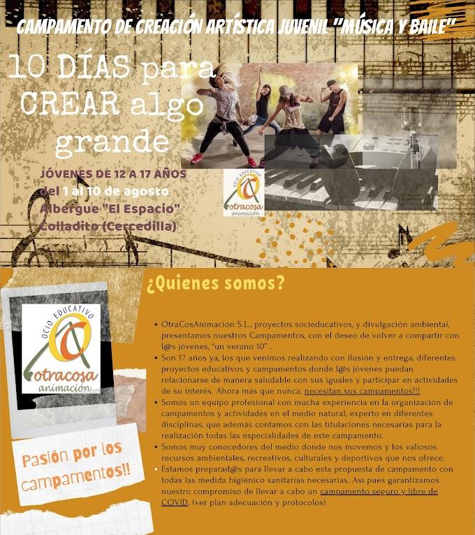 3ª EDICIÓN DEL CAMPAMENTO ARTÍSTICO JUVENIL #CERCEDILLA