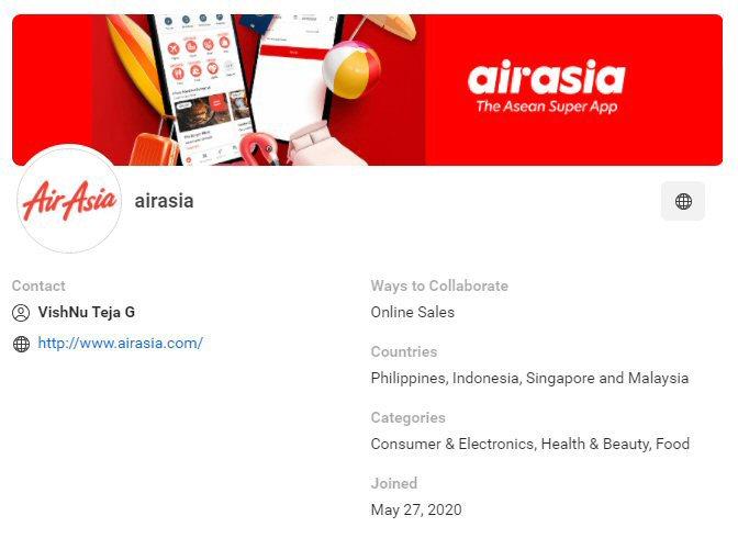 CPAS retail partner: airasia