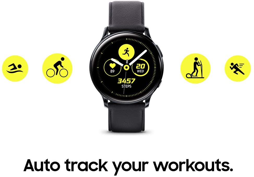 $214.50 BUY    SAMSUNG Galaxy Watch Active 2 (40mm, GPS, Bluetooth) Smart Watch with Advanced Health Monitoring, Fitness Tracking, and Long lasting Battery, Silver (US Version)  Supported ApplicationPhone BrandSAMSUNG Wireless Communication StandardBluetooth ColorSilver Connectivity TechnologyBluetooth Water Resistance LevelWater Resistant GPSTrue Water Resistance Depth50 Meters Battery Cell CompositionLithium Ion About this item  Better insights to reach your fitness goals get more out of every mile thanks to built-in pace coaching on the Galaxy Watch Active2; Its advanced sensors keep your pace to help you better achieve your run goals Comfortably sleek the Galaxy Watch Active2 is light enough to wear anywhere comfortably; It comes in aluminum or stainless steel and with a variety of faces, bands and finishes so it goes with anything.Connectivity: Wi-Fi b/g/n, NFC, A-GPS/GLONASS Keep your beat: You can see if your heart rate is where you want it with Galaxy Watch Active2; Get automatically alerted if your watch detects a high or a low heart rate 4 this device and related software are not intended for use in the diagnosis of disease or other conditions, or in the cure, Mitigation, treatment or prevention of disease Level up your downtime. Galaxy Watch active2's built in sleep tracker offers valuable insights on how to get a better night's sleep; It also monitors your stress level and helps you recently with the integrated calm app. 4 this device and related software are not intended for use in the diagnosis of disease or other conditions, or in the cure, mitigation, treatment or prevention of disease Battery built for endurance. The Galaxy Watch active2's long-lasting battery can go for more than a 5 day on a single charge, and you can always get a quick boost from your compatible Galaxy phone with wireless power share. Works with Qi compatible Samsung devices (compatibility with non Samsung Qi devices not guaranteed); Speed and power efficiency of charge varies by