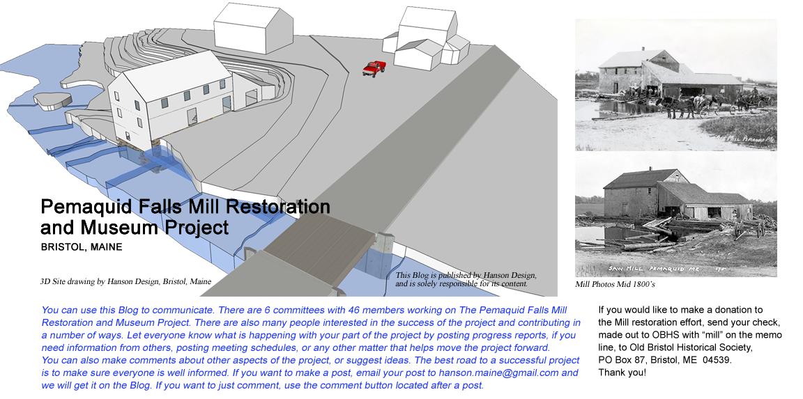 Pemaquid Falls Mill Restoration and Museum Project: Summer