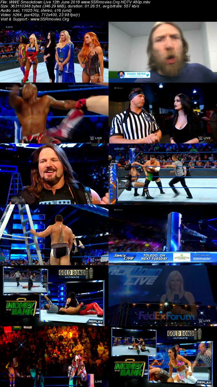 WWE Smackdown Live 12th June 2018 480p HDTV
