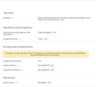Cara Setting Blog Di Blogspot Agar Terlihat Di Google Lebih SEO