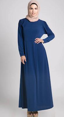 Model Baju Gamis Untuk Kerja Modern Terbaru