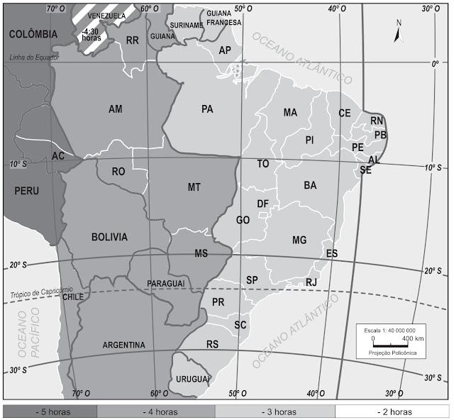 A análise do mapa indica que esta prova que você está fazendo começou com os relógios
