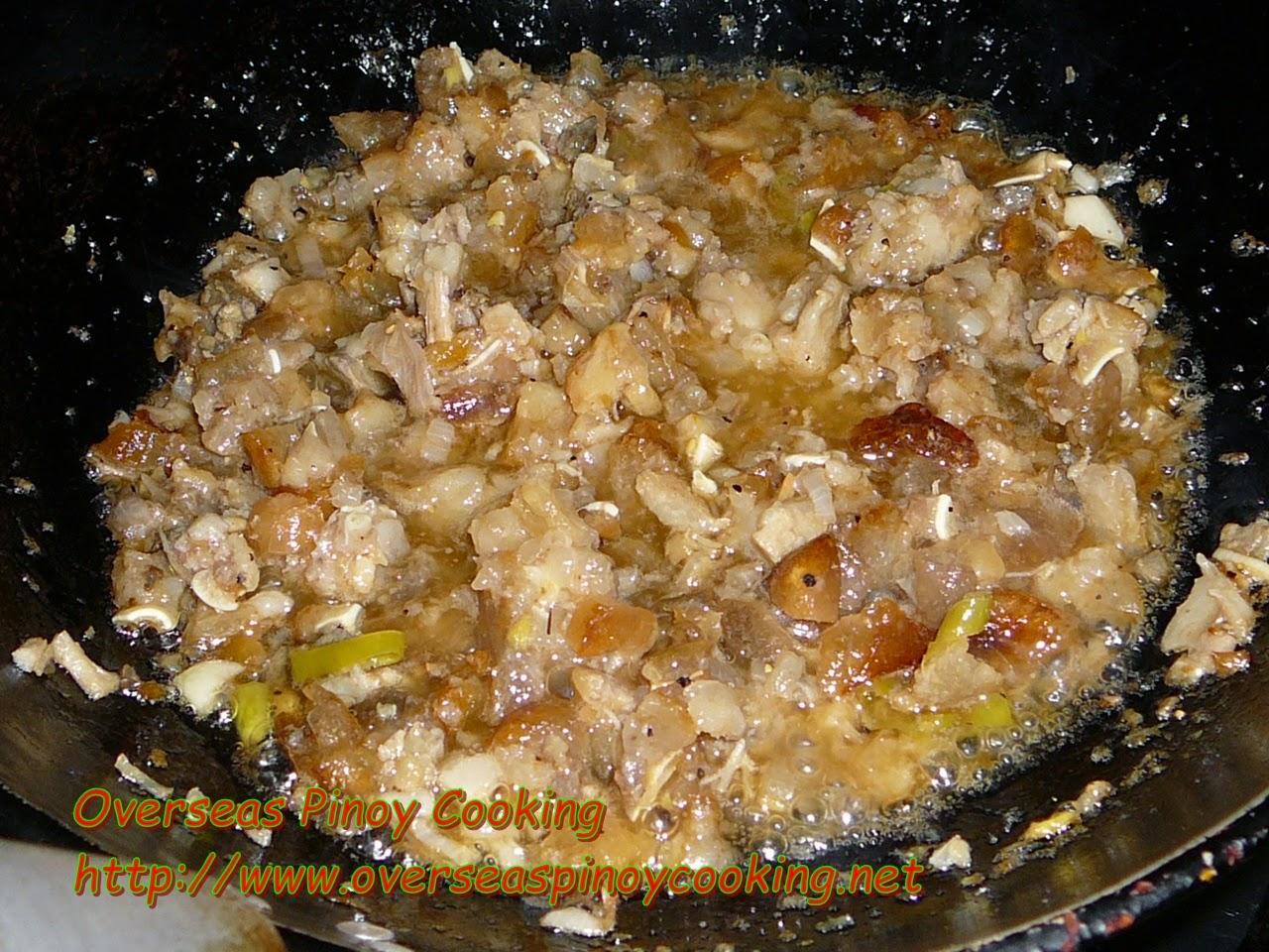 Pork Sisig, Mama Sita's Mix - Cooking Procedure
